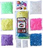 3000 Glow in the Dark Rainbow Colored Loom Bands Refill Kit - 6 Vibrant Neon Colors That Glow! - Includes FREE 100 Clips and 30 Charms! - Refill your Loom Band Organizer in Glowing Fashion!