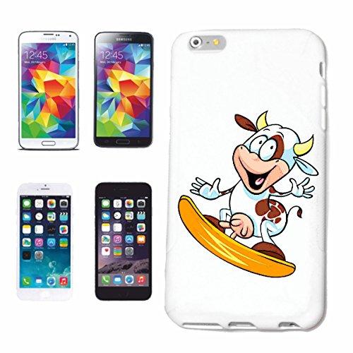 caja del teléfono iPhone 7+ Plus VACA EN olas de surf Tabla de Surf PLAYA TABLAS LONGBOARD Beginner Shop Caso duro de la cubierta Teléfono Cubiertas cubierta para el Apple iPhone en blanco