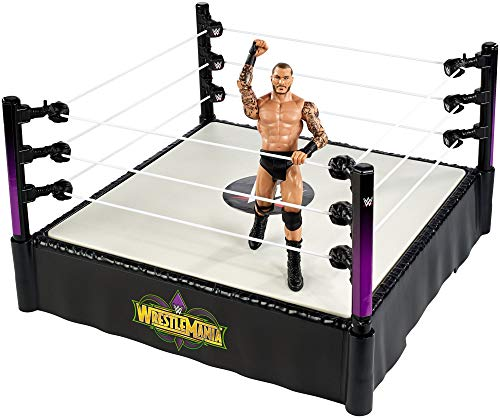 WWE FMH82 Wrestle Mania 14 Inch Ring with Randy Orton Figure ()