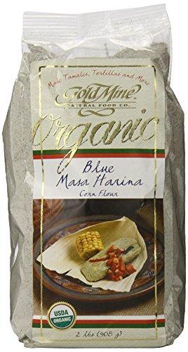 Gold Mine Organic Masa Harina Corn Flour, Blue, 2 Pound (Corn Masa Flour compare prices)