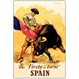 Trademark Fine Art The Fiesta de Toros Spain, 14x19-Inch Canvas Wall Art