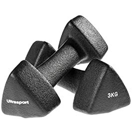 Ultrasport Neoprene Dumbbells with Soft-Touch Handles, gymna...