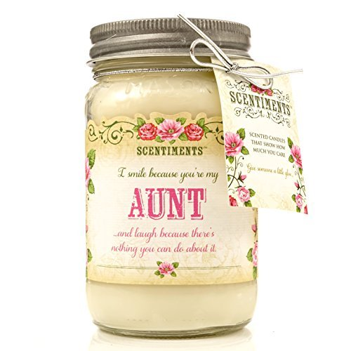 Scentiments AUNT Gift Candle Vanilla Scented Fragrance 16oz by Scentiments