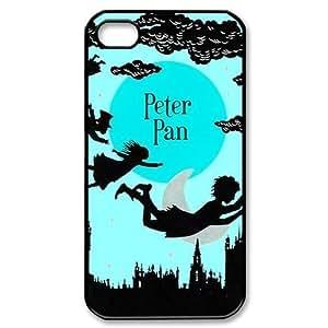 Disney Peter Pan Never Land Design Iphone 4 or 4s Best Rubber+PVC Case Including Dust Plug