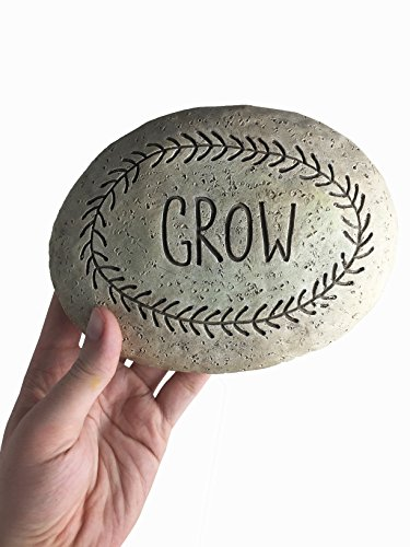 Grow Cement Garden Stone – 7 Inches Length: Daily Inspiration Rocks, Vegan and Handmade Inspired
