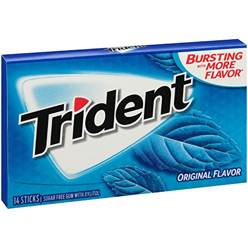 Large Product Image of Trident Original Flavor Sugar Free Gum - with Xylitol - 12 Packs (168 Pieces Total)
