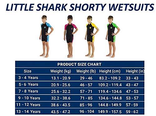 Cressi Little Shark Muta Shorty in Premium Neoprene 2 mm Unisex Bambini