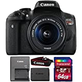 Canon EOS Rebel T6i 24.2MP DSLR Camera with 18-55mm IS STM Lens and 64GB Memory Card