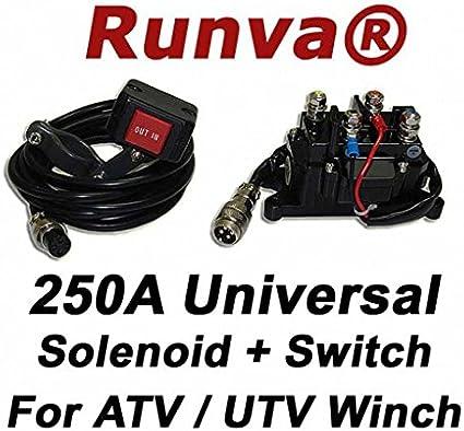 12V 250 Amp 250Amp Solenoid Relay Contactor Winch Rocker Switch Thumb ATV UTV