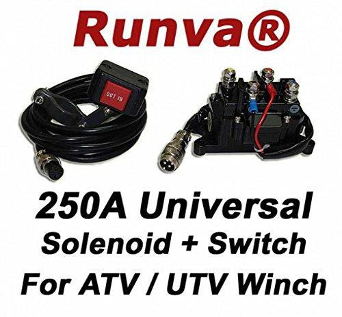 Runva Universal 250A 12V Solenoid Relay Contactor & Rocke...