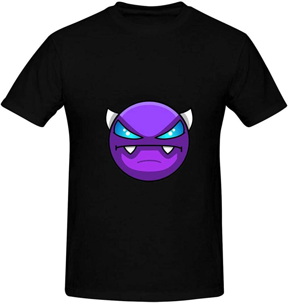 Men's Cotton Shirts Geometry Face Demon Dash Casual Short Sleeve T-Shirt Boys Tank Tops Tees Polo
