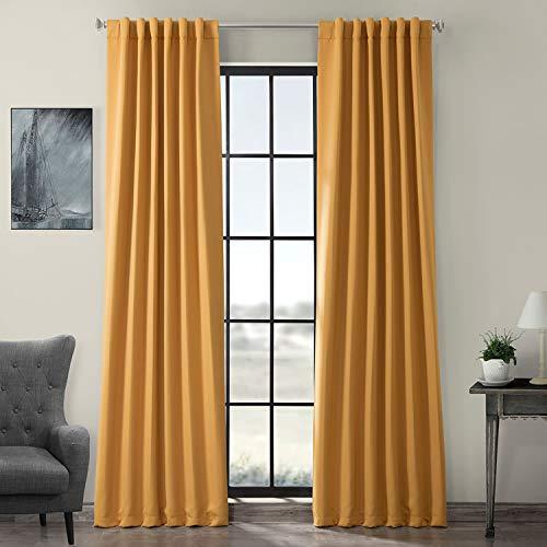HPD HALF PRICE DRAPES BOCH-201303-84 Blackout Room Darkening Curtain, 50 X 84, Marigold (Golden Curtains Yellow)
