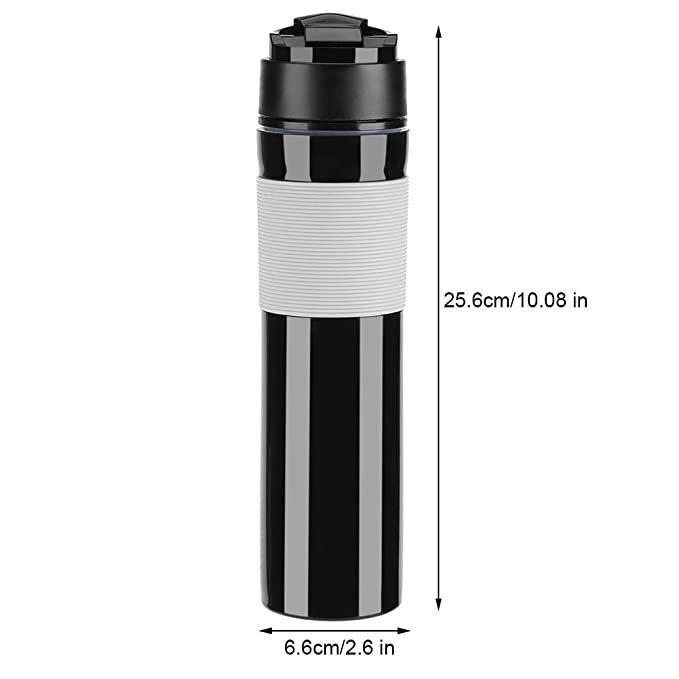 Fdit Portátil Mini Máquina de Espresso Mano Presión Caffe Máquina de Espresso Compacto Manual Cafetera para Oficina Casa Viajes Aire Libre (Negro): ...