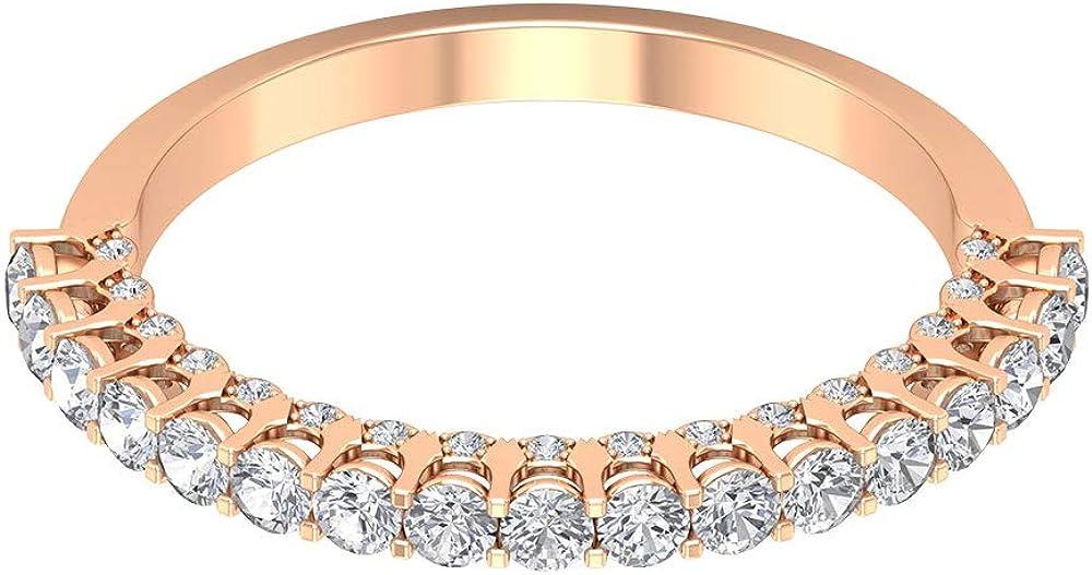 Anillo de boda con diamantes de 0,62 quilates, clásico para mujer, anillo de declaración, certificado SGL, anillo de eternidad, 18K Oro