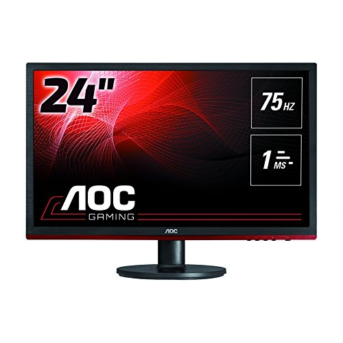 AOC G2460VQ6 Gaming - LED monitor - 24 inch (24 inch viewable) - 1920 x 1080 Full HD (1080p) - 250 cd/m2-1000:1-1 ms - HDMI, VGA, DisplayPort - speakers - black