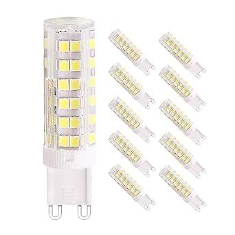 7W G9 bombillas LED, Equivalente a 65W Lampara Halogenos, 76 SMD 2835 LED ahorro