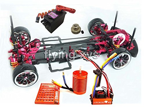 - Hobbypower Alloy & Carbon 1:10 Drift Racing Car Frame Kit & SKYRC LEOPARD 60A ESC & Motor for SAKURA D3 RC Car