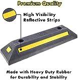Genubi Industry Rubber Curb, Black Heavy Duty