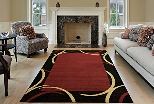 red and black area rugs - 3