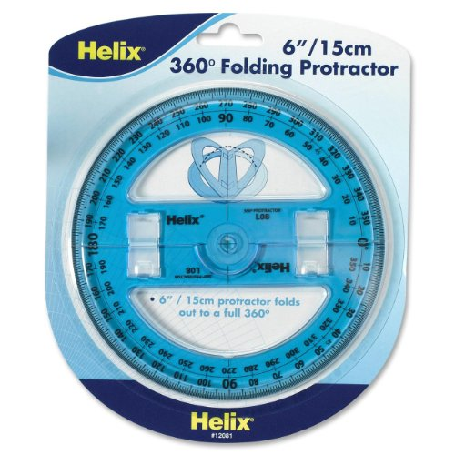 Helix 6 inch 360 Degree Folding Protractor (12081) Deal (Large Image)
