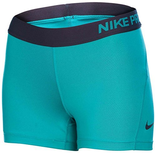 "Nike Women's Dri-Fit Pro 3"" Compression Training Shorts-Teal/Navy-XS"