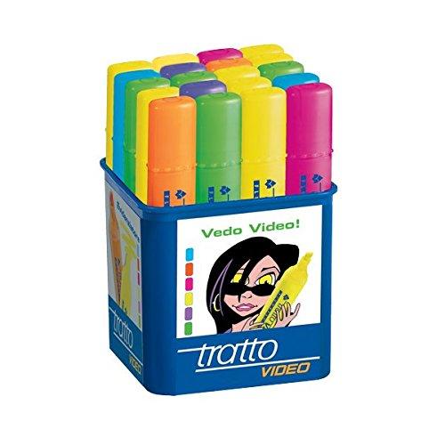 139 opinioni per Tratto- Evidenziatore Video Colori Assortiti (Pacco da 20)