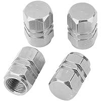 4x Tapas Tapones Válvulas Cubierta de Neumático Aluminio