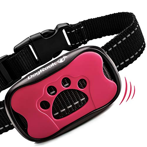 DogRook Dog Bark Collar – Humane Care Anti Barking Training Collar – Vibration No Shock Dog Collar – Stop Barking Collar for Small Medium Large Dogs – Best No Barking Control Dog Collar