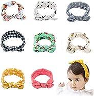 Tinnyfy Headband Girl Cute Baby Rabbit Ear Hair Bands Soft Cotton Headband Newborn Womens Yoga Beach Head Wrap