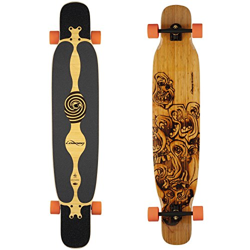 Loaded Boards Bhangra Bamboo Longboard Skateboard Complete (80a Stimulus, Flex 2)