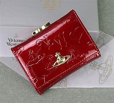 6db98295692f Amazon   (ヴィヴィアンウエストウッド) Vivienne Westwood レディース 三つ折り財布 (ブラック) … (ワインレッド)   Vivienne  Westwood(ヴィヴィアンウエストウッド) ...