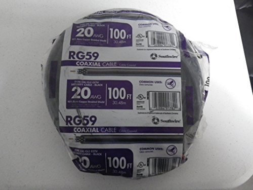 RG59 Coaxial Cable 95% Bare Copper 100 ft.