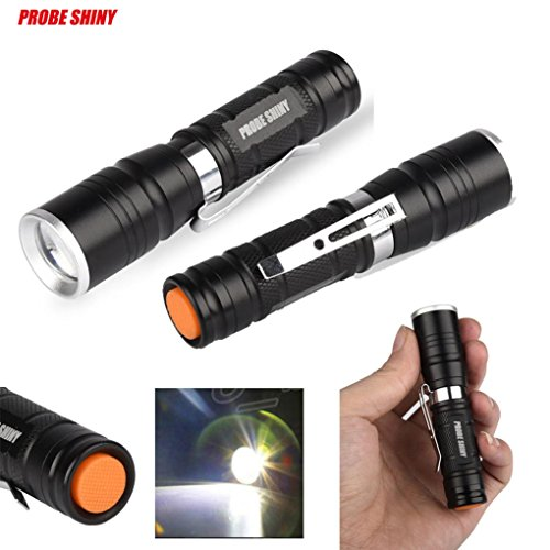 Flashlight, Han Shi LED Flashlight Multi Functional 2000 lumens Mini Zoom Clip Flashlight Rechargeable Mini Torch Handheld Light Lamp Lighting