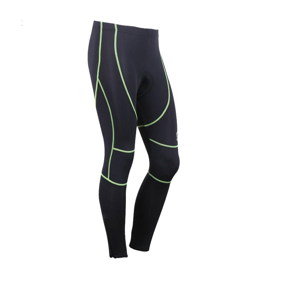 Xcellent Global Men's Outdoor Cycling Tights Bicycle Pants 3D Gel Padded Cycling Shorts Sports Trousers, Black FS028