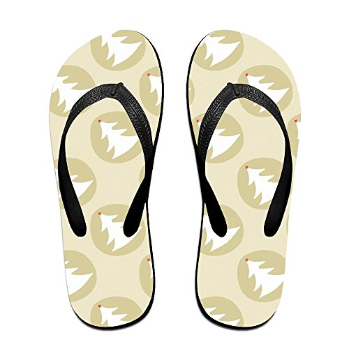 Unisex Kerst Patronen Zomer Riem Slippers Strand Slippers Platforms Sandaal Voor Mannen Vrouwen Zwart