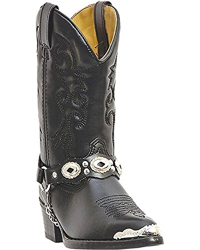 Laredo Little Concho Black Leather Boots 4.5 D