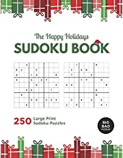 The Happy Holidays SUDOKU Book: 250 Large Print Activities