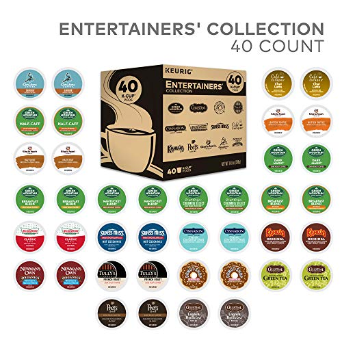 Keurig Entertainers Variety Pack Single Serve Coffee K-Cup Pod Sampler, 40 Count