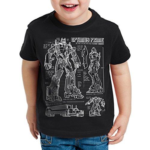 Camiseta os Hormiga Optimus ni para Prime Dibujo Autobot Azul Negro dTq4XT
