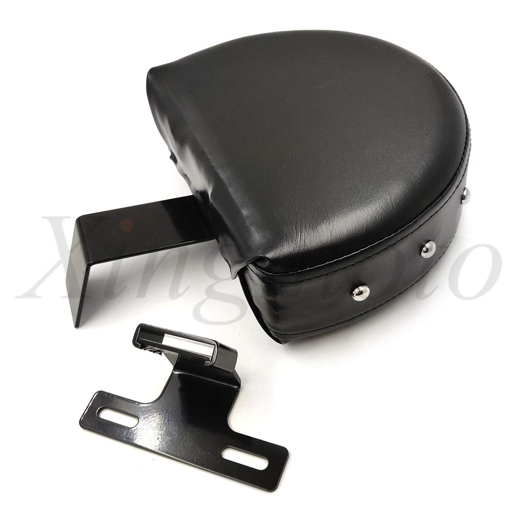 (TGHD-SBB044) Replacement of Driver Backrest Easy ON//OFF Studded For Compatible with Harley 1993-2006 Heritage Softail Black // NBX