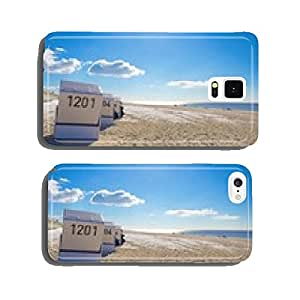 Beach chairs in winter cell phone cover case iPhone6