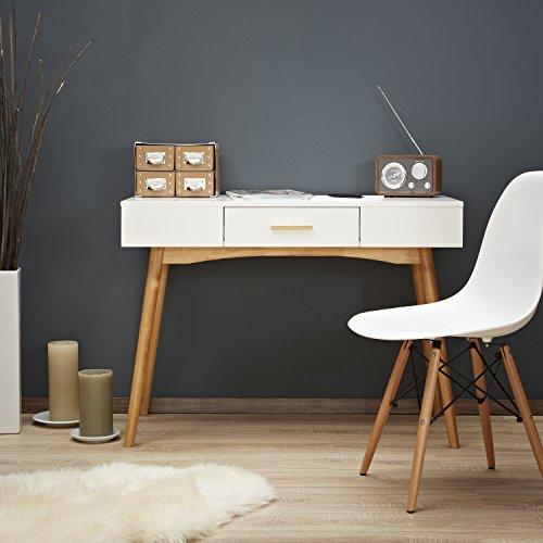 lomos n° 11 bureau-secrétaire en bois laqué blanc dans le design ... - Meuble Bureau Secretaire Design