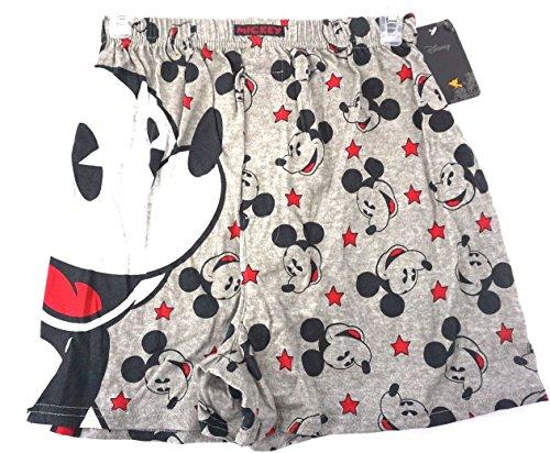 - Disney Mens Boxer Shorts Grey Mickey Mouse Parts Small