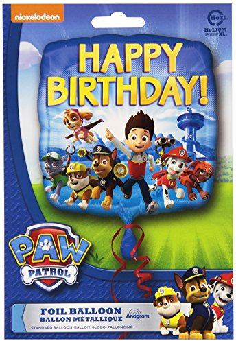 Anagram International HX Paw Patrol Happy Birthday Packaged Party Balloons, Multicolor