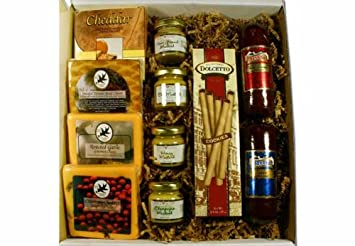 Image Unavailable  sc 1 st  Amazon.com & Amazon.com : Deluxe Meat and Cheese Gift Box : Gourmet Meat Gifts ...