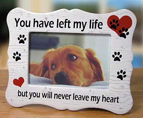 Pet Memorial Ceramic Picture Frame - You Have Left My Life But You Will Never Leave My Heart - Loss of a Pet Gift - Pet Photo Frame - Pet Sympathy Gift - In Memory of a (Pet Frame)