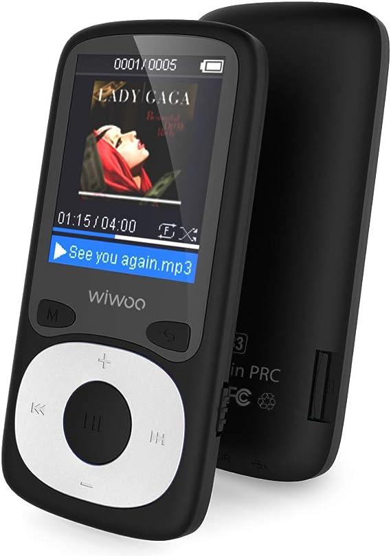 Recargable Reproductor De Musica MP3 Radio FM 8GB Admite Hasta 128 GB Memoria