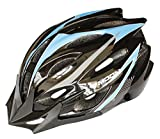 Moon Specialized Adjustable Adult Bike Helmet for Road Mountain Unisex CPSC,Black & Blue