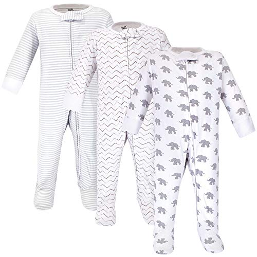 0-3 Months Marching Elephant Touched by Nature Baby Organic Long Sleeve Sleeping Bag 2pk