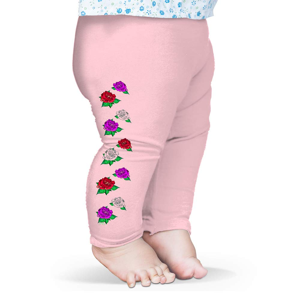 TWISTED ENVY Coloured Roses Pattern Baby Novelty Leggings Trousers